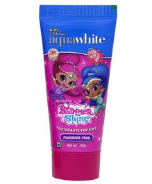 aquawhite Shimmer & Shine Toothpaste Strawberry Burst Flavour Blue & Purple - 80 gm