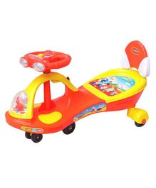 Funride Boost Deluxe Magic Car With Twin LED Lights & Music - Red Yellow