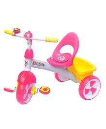 Funride Delta Baby Tricycle With Bell - Pink