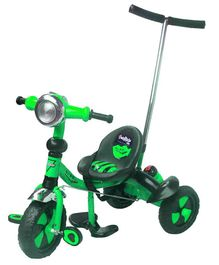 Funride DukeTricycle with Sipper Bell & Parenting Handle - Green
