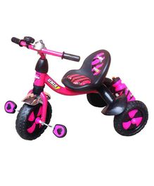 Funride Unik Premium Tricycle With Sipper Bottle - Pink