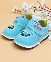Cute Walk by Babyhug Casual Shoes Airplane Patch - Sky Blue