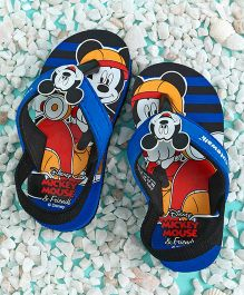 58c19d5fae902 Cute Walk by Babyhug Flip Flops With Back Strap Mickey Mouse Applique - Blue  Black
