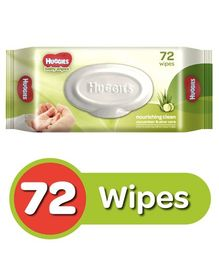 Huggies Nourishing Clean Baby Wipes with Cucmber & Aloe Vera - 72 Pieces