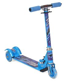 Three Wheels Foldable Scooter Need For Speed Print - Blue