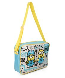 Minions Messenger Bag Blue & Yellow - Height 13.7 inches