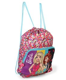 Barbie Drawstring Bag Pink & Blue -  Height 18.5 inches
