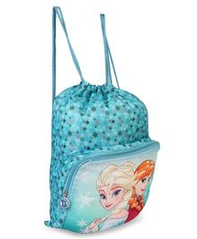 Disney Frozen Drawstring Bag Blue - Height 18.5 inches