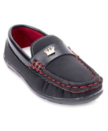 Cute Walk By Babyhug Party Wear Loafers - Black
