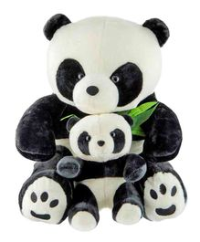 Dhoom Soft Toys Panda Soft Toy With Baby Black and White - Height 50 cm