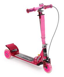Three Wheeled Manual Scooter - Pink
