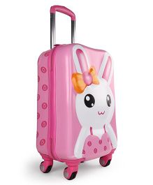 Bunny Printed Travel Trolley Bag - Pink