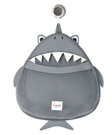 3 Sprouts Shark Shape Bath Storage - Grey