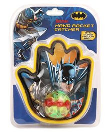 Batman Hand Racket Catcher With Vacuum Ball - Black