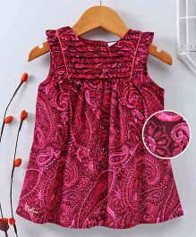 Bee Born Paisley Print Sleeveless Dress - Pink