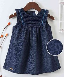 Bee Born Paisley Print Sleeveless Dress - Navy