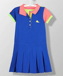 Cherry Crumble California Sporty Accent Dress - Blue