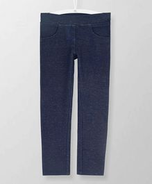 Cherry Crumble California Full Length Solid Jegging - Navy Blue