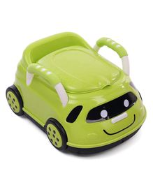 Car Shape Potty Chair With Handles - Green