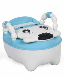 Animal Design Potty Chair With Lid - Blue