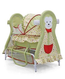 Monkey Cradle With Wheels - Green