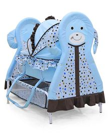 Animal Face Baby Cradle - Light Blue