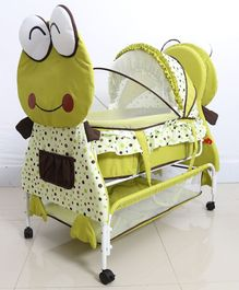 Froggy Cradle With Wheels - Green