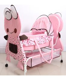 Froggy Cradle With Wheels - Pink