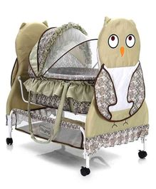 Owl Cradle With Wheels - Green