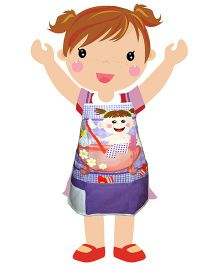 Swayam - Baby Print Kids Apron Small