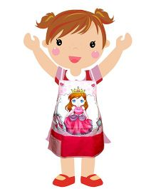 Swayam - Princess Print Kids Apron Small