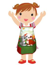 Swayam - Dog Print Kids Apron Regular