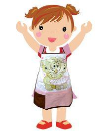 Swayam - Teddy Bear Print Kids Apron Small