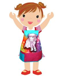 Swayam - Cute Girl Print Kids Apron Small