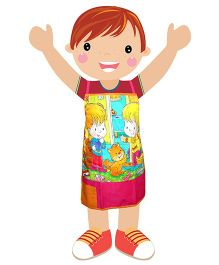 Swayam - Cute Kids Print Kids Apron Small