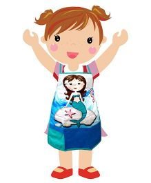 Swayam - Mermaid Print Kids Apron Regular
