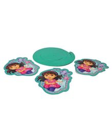 Dora Swirl Decoration Pack of 4 - Blue