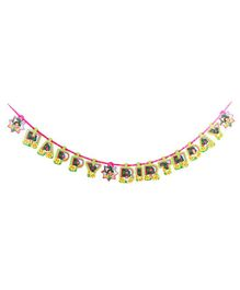Dora Happy Birthday Banner - Multicolour