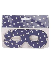 B Vishal Polka Dots Print Eye Mask Navy - Pack of 10