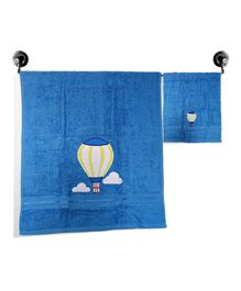 Little Jamun Bath & Hand Cotton Towel Parachute Print - Orange