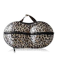 Home Union Lingerie Storage Case With Handle Animal Print - Black