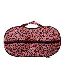 Home Union Lingerie Storage Case With Handle Animal Print - Peach