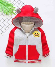 Pre Order - Awabox Duck Applique Hooded Jacket - Red