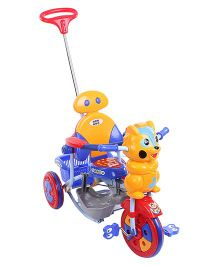 Mee Mee Kitty Tricycle With Push Handle And Basket Blue - BT-820