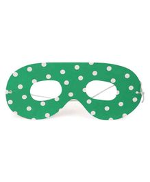 B Vishal Eye Mask Polka Dot Print Green - Pack of 10