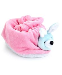Morisons Baby Dreams Rabbit Appliqued Baby Booties - Pink