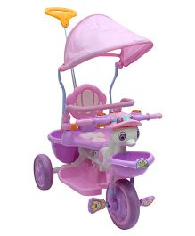 Fab N Funky Tricycle With Push Handle Pink
