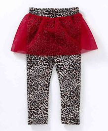 Crayonflakes Printed Full Length Skeggings - Brown & Red