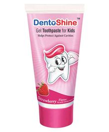 DentoShine Strawberry Flavoured Gel Toothpaste - 80 gm