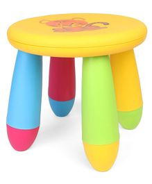 Kids Stool Tiger Print - Yellow Multicolour